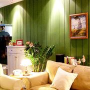 美式简约风格公寓客厅沙发装饰