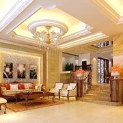 欧式奢华别墅客厅石膏线装饰