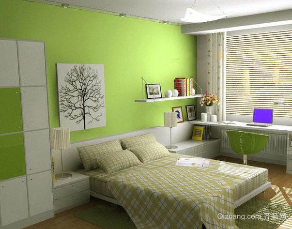 自然轻快床头背景墙装修效果图