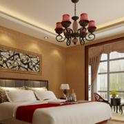 中式简约风格卧室灯饰装饰