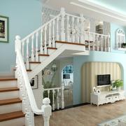 欧式田园风格复式楼楼梯装饰