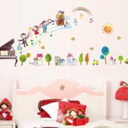 简约幼儿园背景墙设计