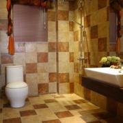 三室两厅简约风格卫生间马桶装饰