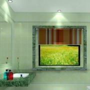 后现代风格家庭卫生间背景墙装饰