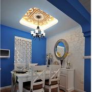 白色简约风格餐厅桌椅装饰