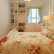 欧式田园风格卧室飘窗装饰