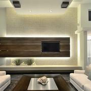美式简约风格木制电视背景墙装饰