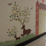 幼儿园简约动物壁纸装饰