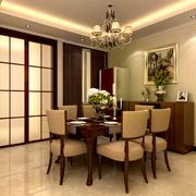 欧式经典风格餐厅软质桌椅装饰