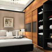 后现代风格深色系卧室衣柜装饰