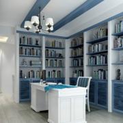 地中海风格书房置物架装饰