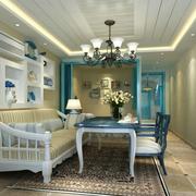 地中海风格客厅推拉门装饰