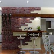 loft风格公寓客厅吧台装饰