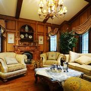 美式乡村风格客厅家具装饰