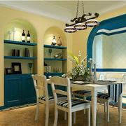 地中海餐厅酒柜装饰