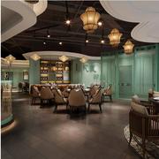 东南亚饭店酒柜装饰