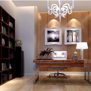 后现代风格原木深色书柜装饰