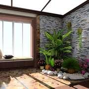 中式简约风格入户花园设计