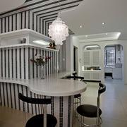 后现代风格简约白色吧台装饰