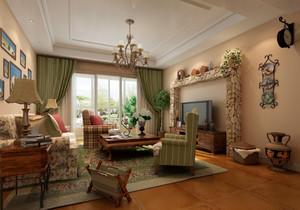 美式简约风格客厅电视背景墙装饰