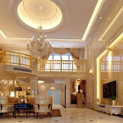 楼中楼欧式风格吊顶装饰