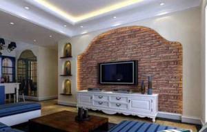 两室一厅地中海风格电视墙装修效果图