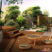 美式简约风格庭院藤椅装饰