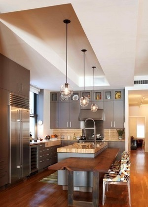 美式简约风格厨房吧台装饰