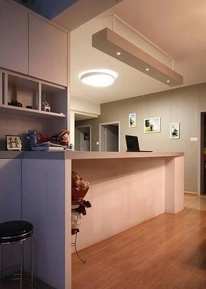 简约一居室客厅吧台装修设计效果图