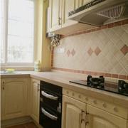 美式简约风格厨房飘窗装饰