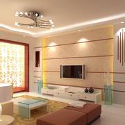 中式风格客厅简约风格吊顶装饰