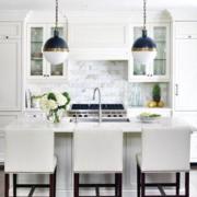 后现代风格浅色厨房灯饰效果图