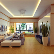 自然欧式大户型大厅设计