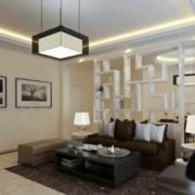 后现代风格客厅置物架效果图