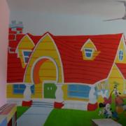 幼儿园米琪漫画墙壁壁纸装饰