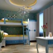 现代简约风格儿童房圆形吊顶装饰