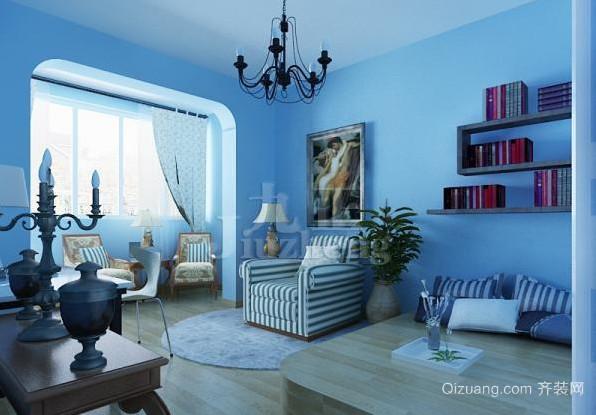 小户型地中海风格卧室阳台装修效果图