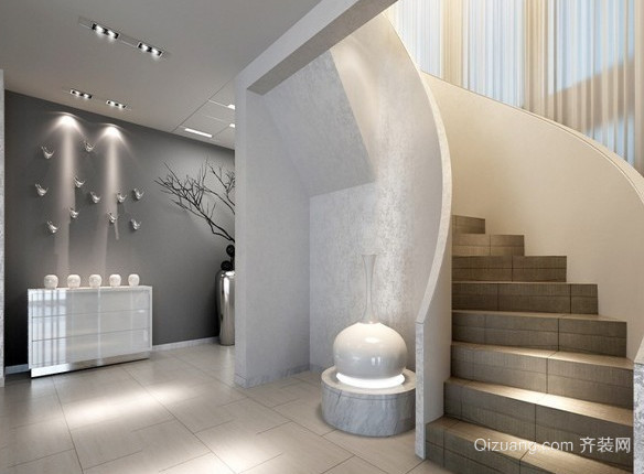 后现代风格的室内楼梯设计装修效果图欣赏