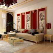 100平米简约风格客厅沙发背景墙装饰