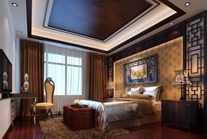 90平米欧式卧室床头背景墙装修效果图