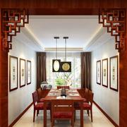 客厅红木博古架装饰