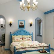 地中海风格卧室飘窗装饰
