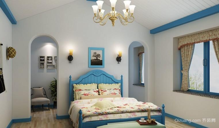 2015地中海风格卧室壁纸装修效果图鉴赏