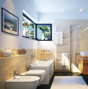 简约60平米小卫生间浴缸装修效果图