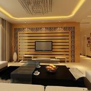 日式清新简约风格原木客厅电视背景墙