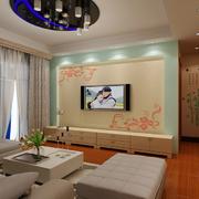 现代简约印花硅藻泥电视背景墙装饰
