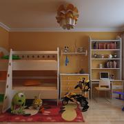美式简约风格儿童房上下铺装饰