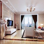 欧式简约风格客厅窗户设计
