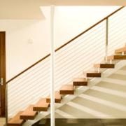 简约风格日式原木小型楼梯装饰