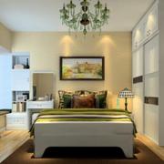 现代简约风格卧室精致灯饰装饰